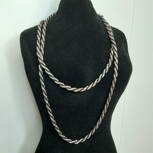 5/50% off cute black and silver fashion necklace